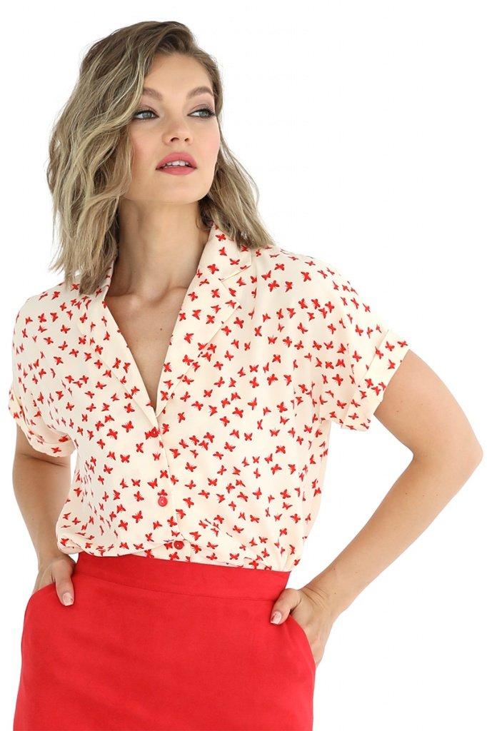 Блузка с отложным воротником и лацканами, 02.037.04.314
