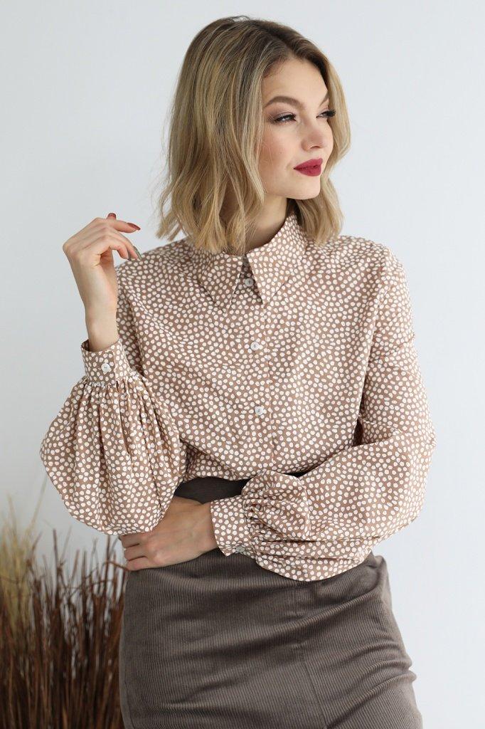 Блузка с рукавами-фонариками, 02.013.28.393