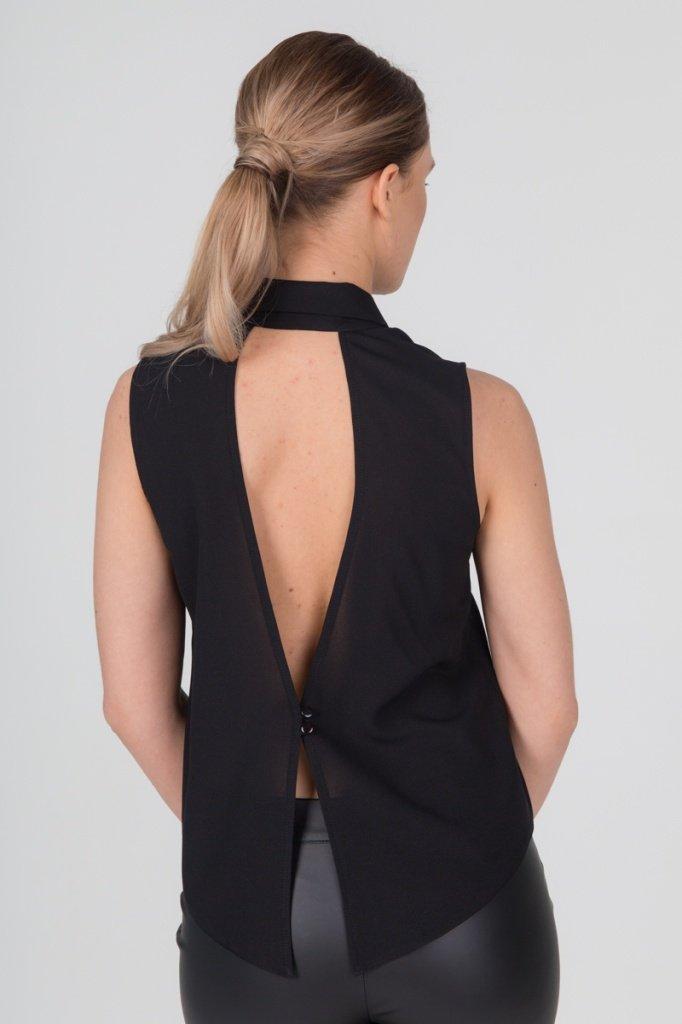 Блузка с открытой спинкой и застежкой на пуговицы, 02.012.10.304
