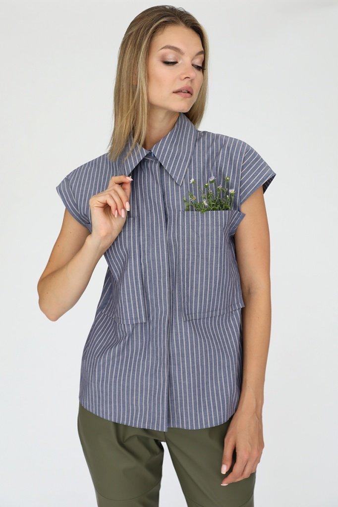 Рубашка с накладными карманами, 02.038.25.390