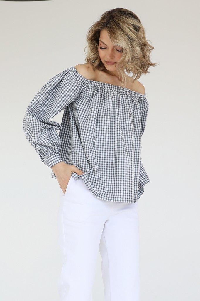 Блузка со спущенными плечами, 3.02.050.33.А333