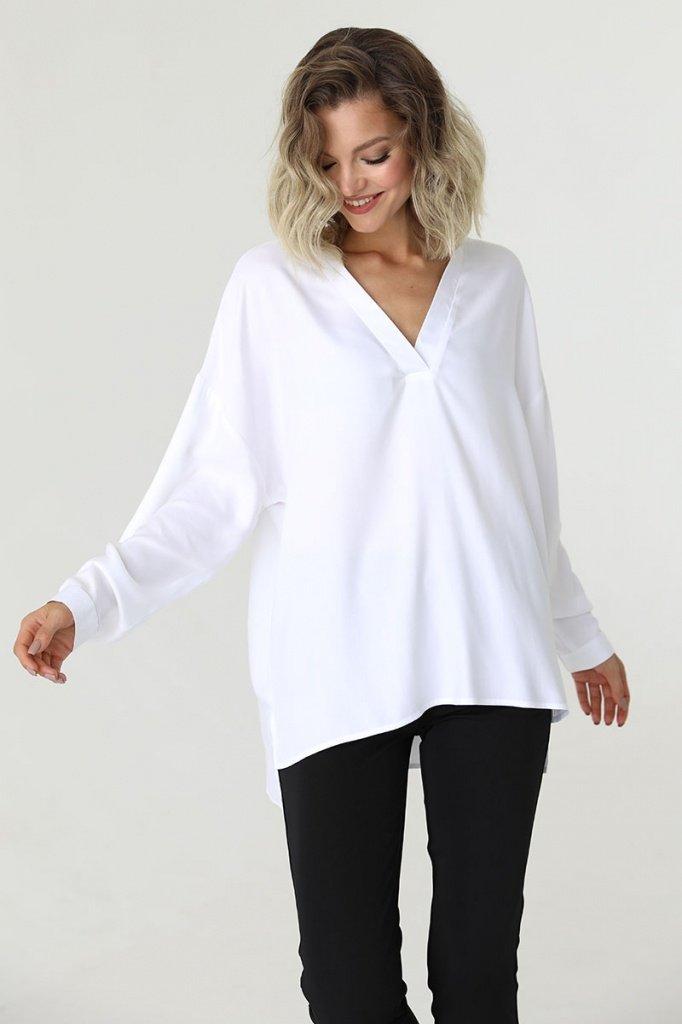 Блузка свободного кроя с v-образным вырезом, 02.021.01.356