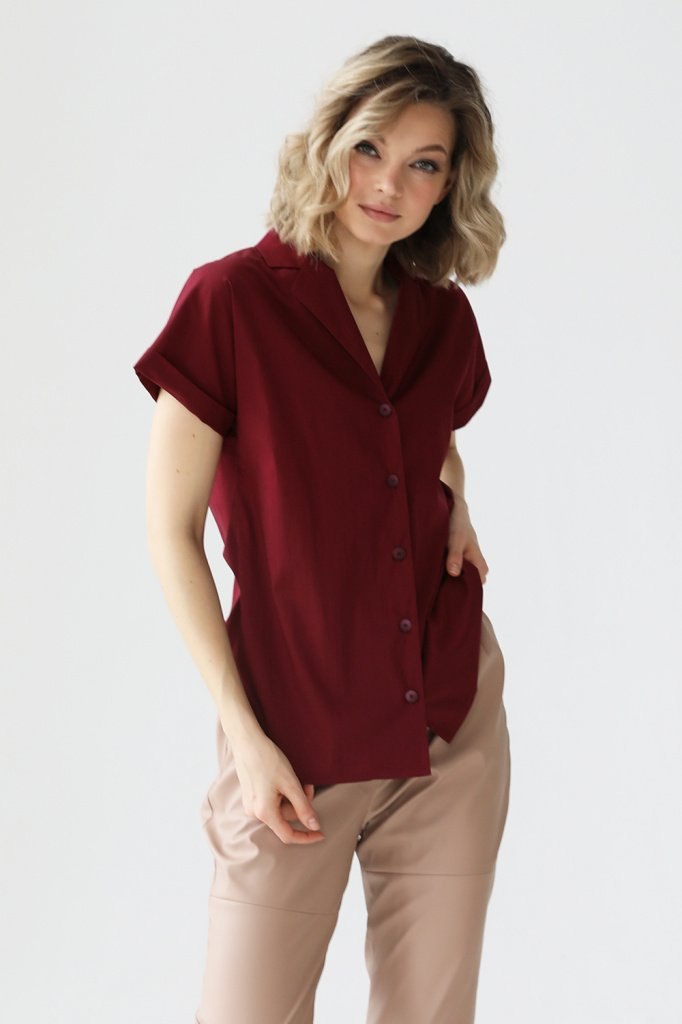 Блузка с отложным воротником и лацканами, 3.02.037.15.А322