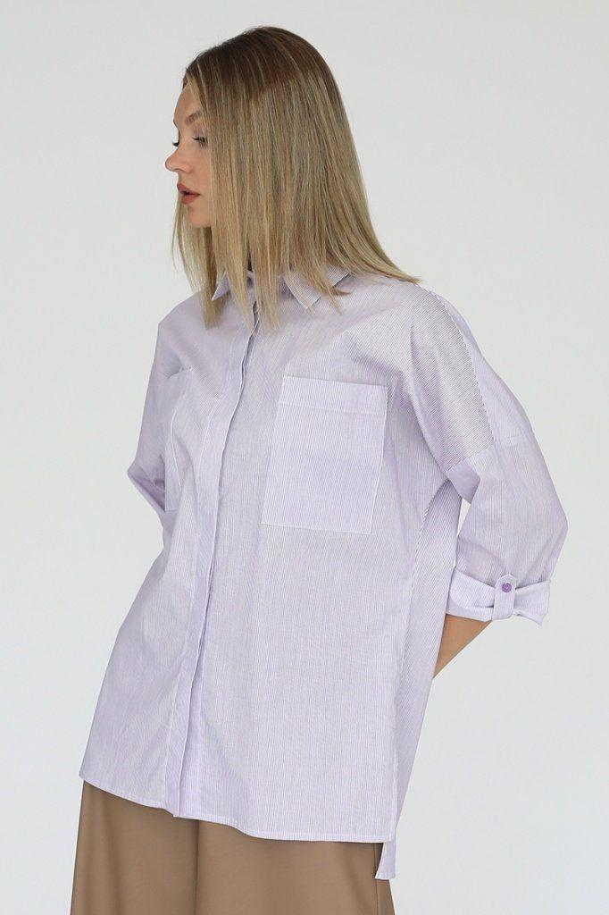 Рубашка свободного кроя с карманами, 02.018.02.389