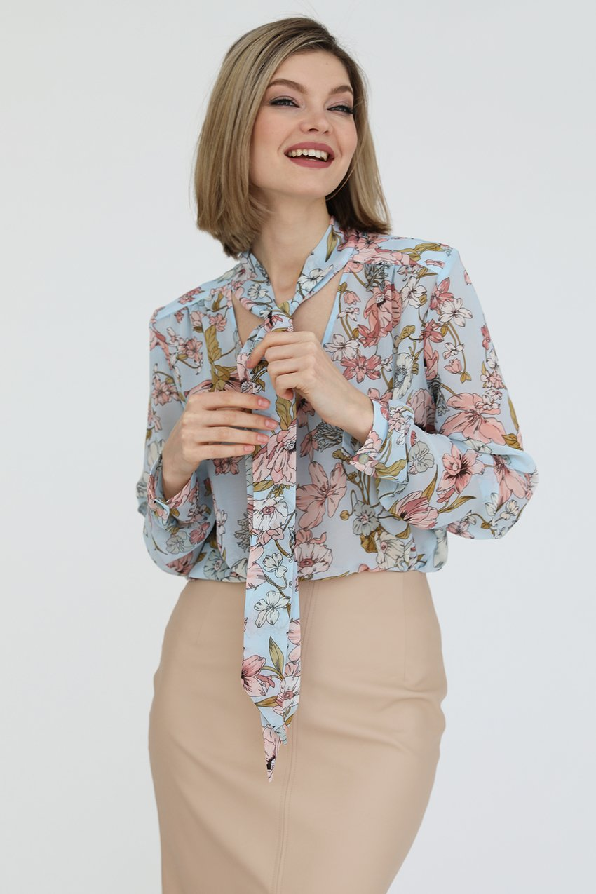Блузка с галстуком, 2.02.020.10.А315