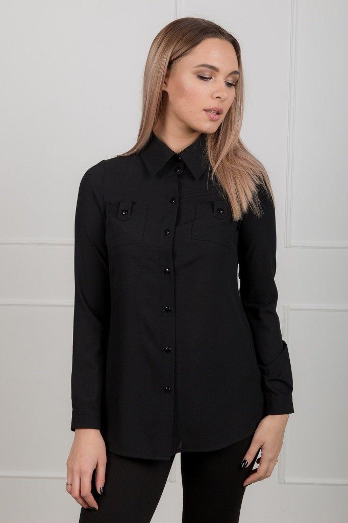 Блузка с длинными рукавами и накладными карманами, 02.006.10.304