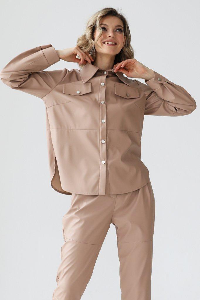 Рубашка из искусственной кожи, 3.02.028.19.624